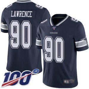 Cowboys Demarcus Lawrence 100th Season Jersey